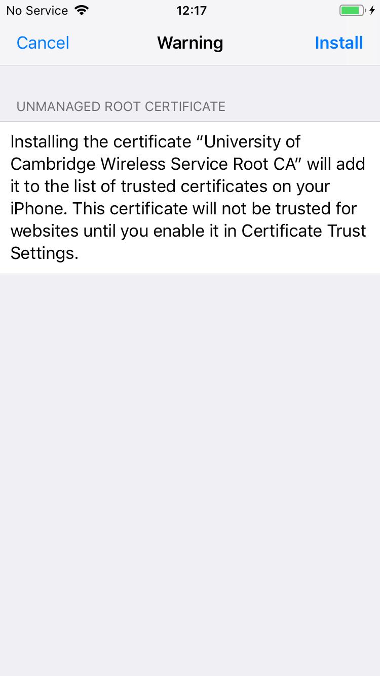 4a. Certificate Message