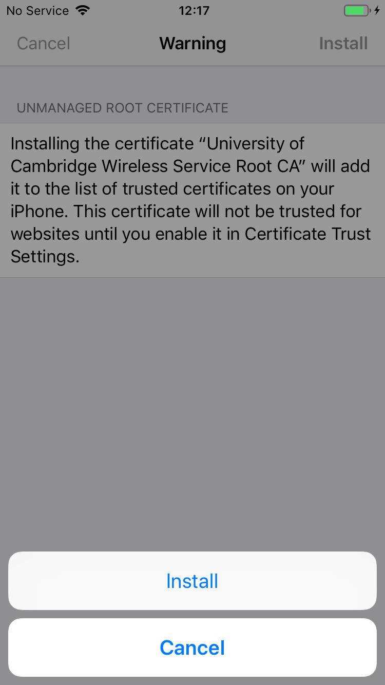 4b. Certificate Install