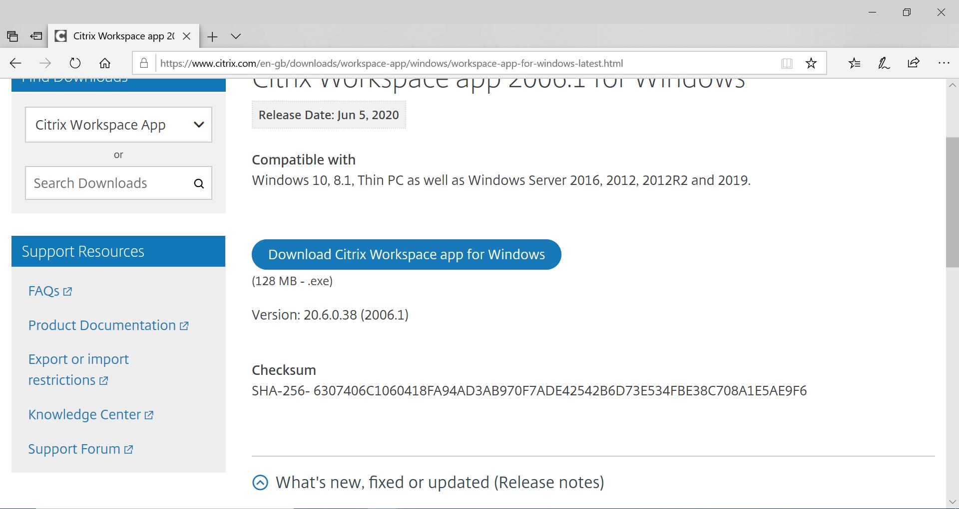 Download Citrix Workspace