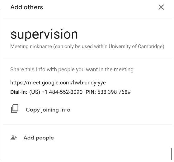 Google Meet – add participants
