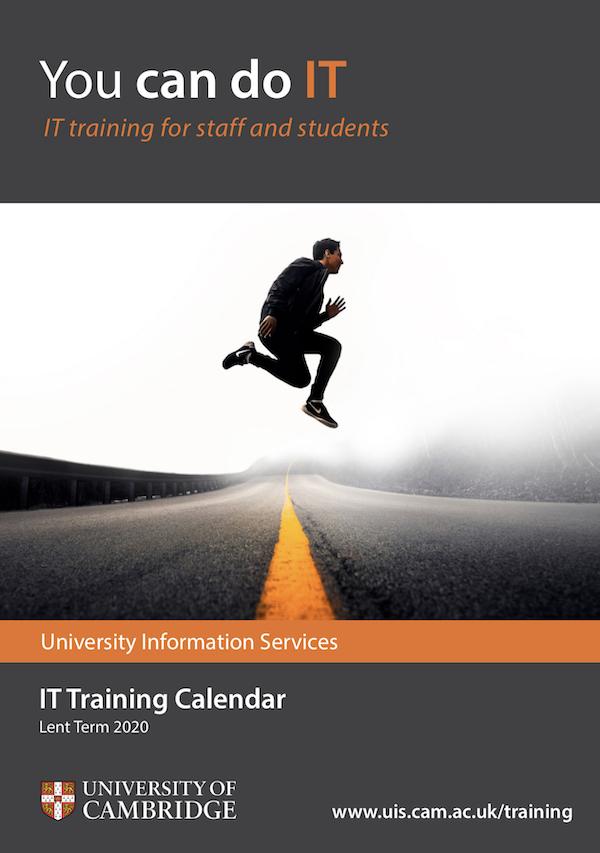 Training Calendar Lent 2020
