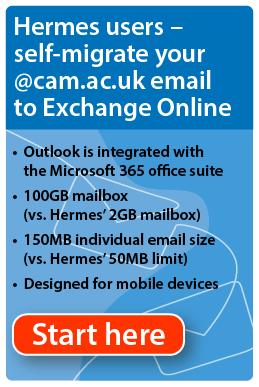 Migrate your Hermes account to Exchange Online