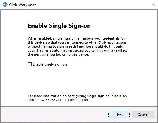 Single Sign On alert