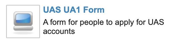 UAS UA1 Form