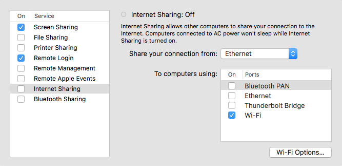 Sharing Internet Connection