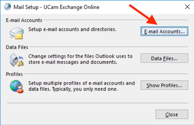 Adding mailbox Outlook 2016 screen 2