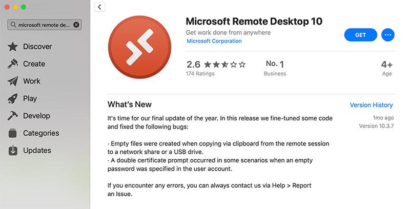 App Store Remote Desktop