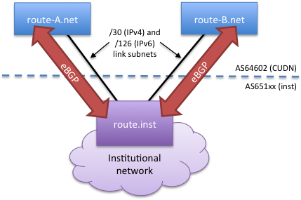 bgp inst 1 router