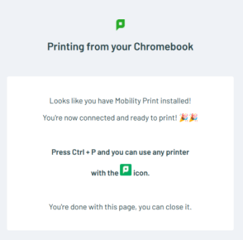Chrome Installed Screenshot