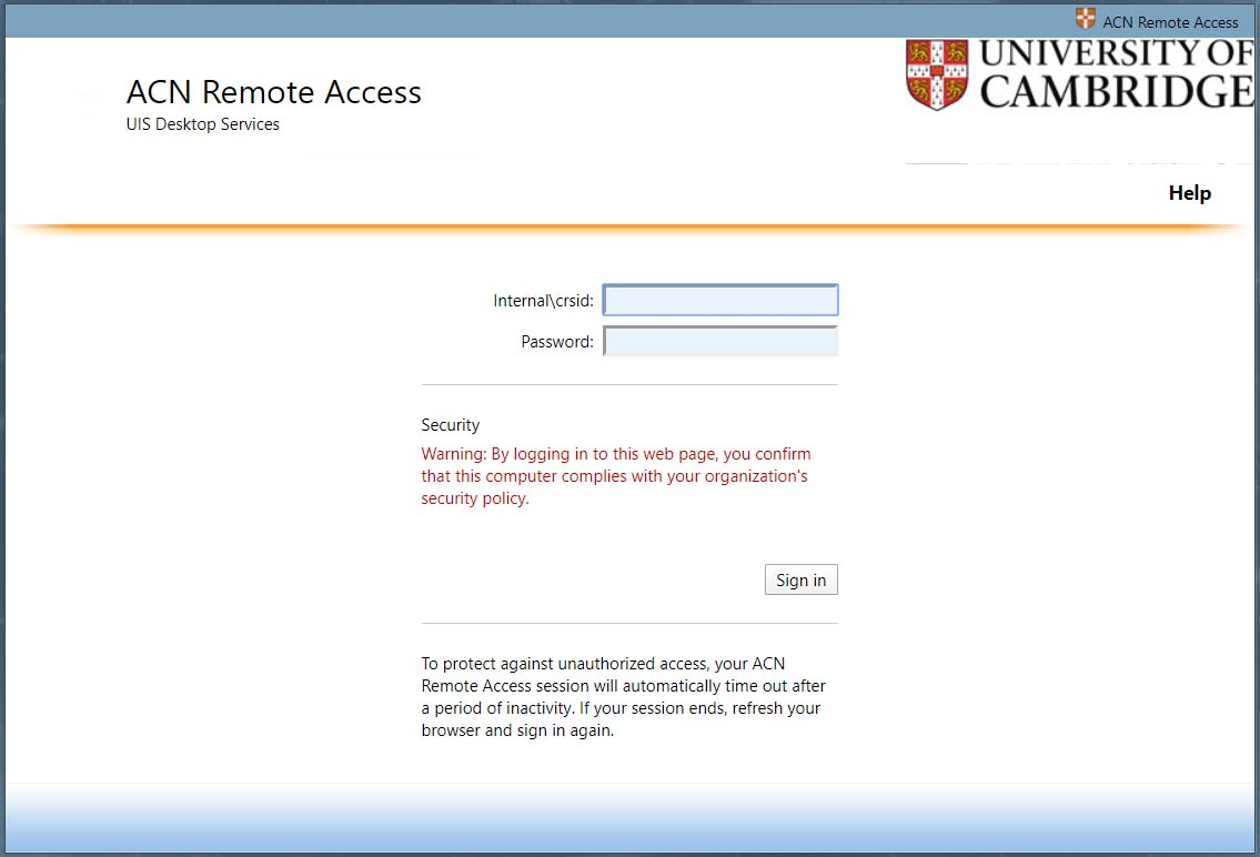 Visit the remote access website