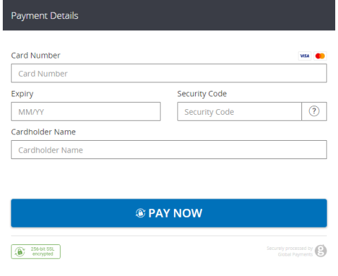 credit debit card interface used to apply common balance credit