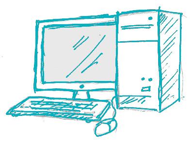 handdrawn desktop