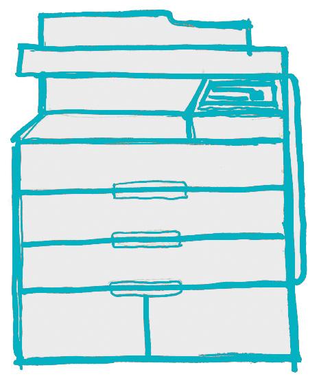 handdrawn printer