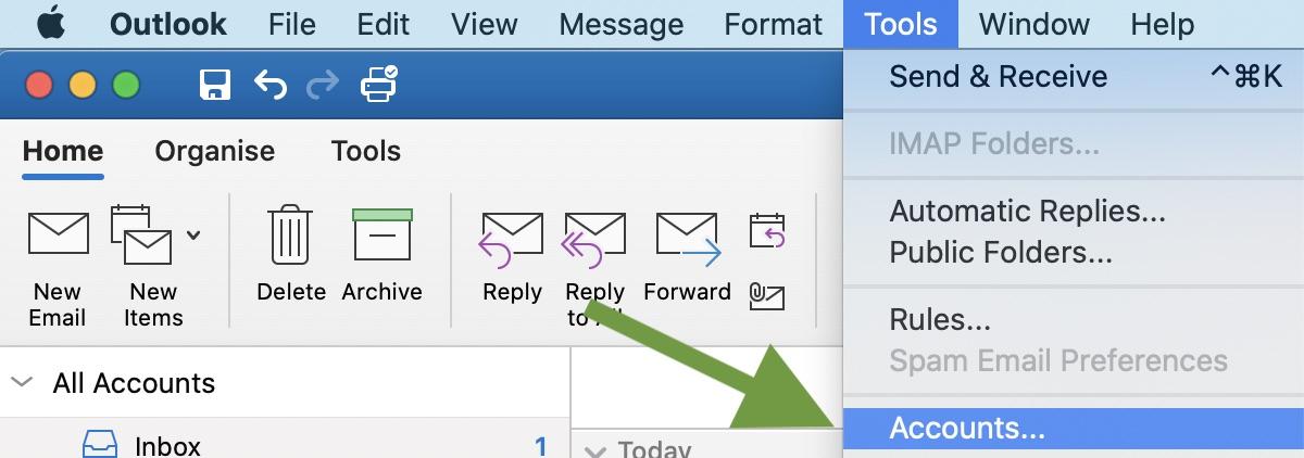 Outlook share macOS screenshot 1