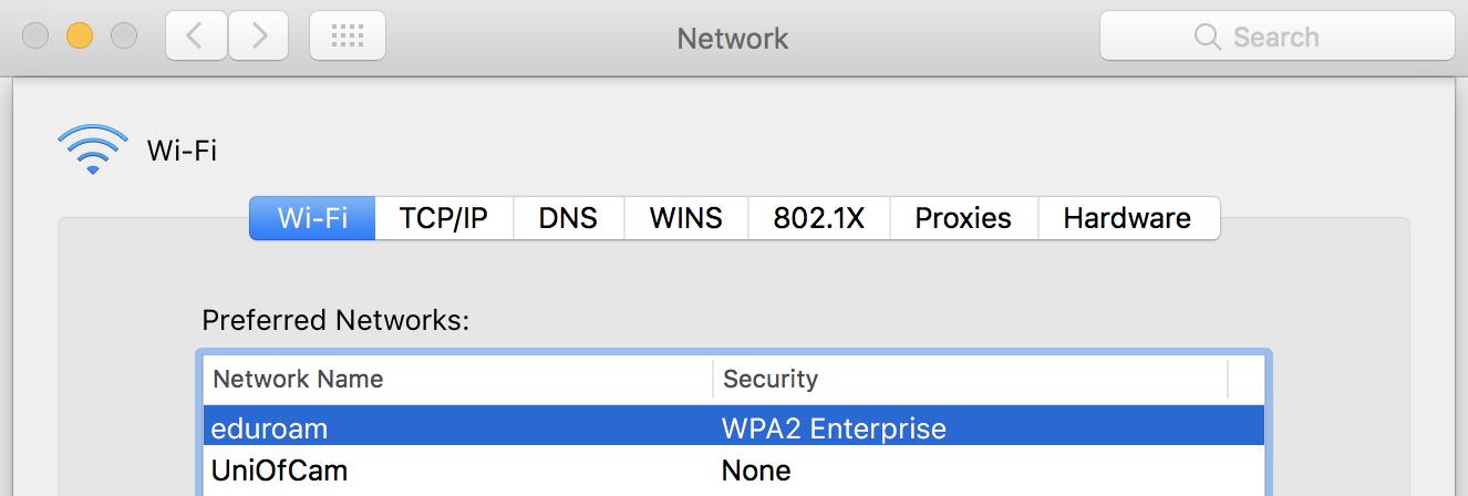 Mac screenshot of ordering Wi-Fi
