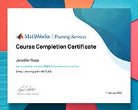 Matlab certificate