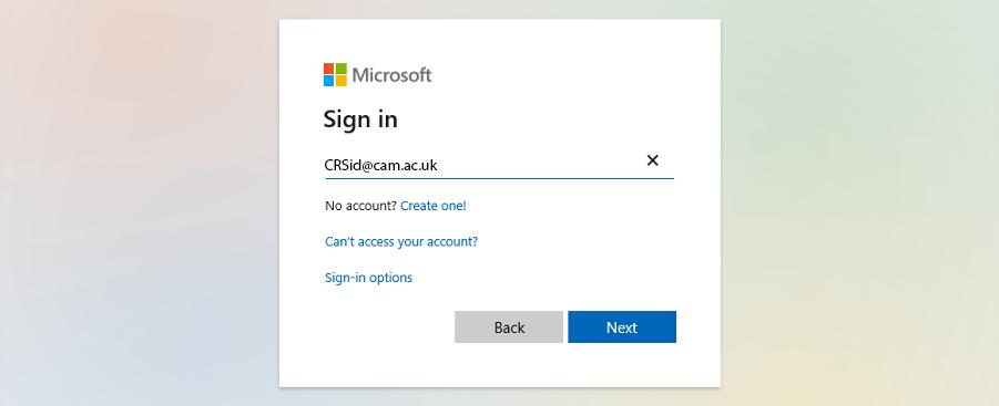 Microsoft Login 1