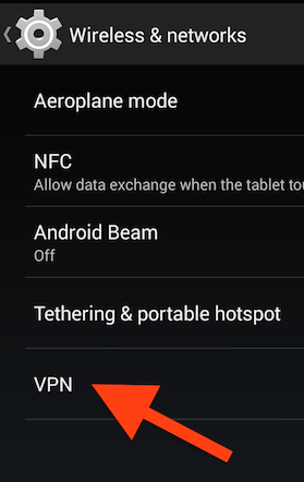VPN option