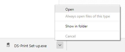 screenshot showing opening download