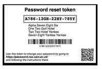Password Reset Token