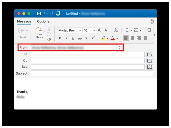 Send As Outlook Mac