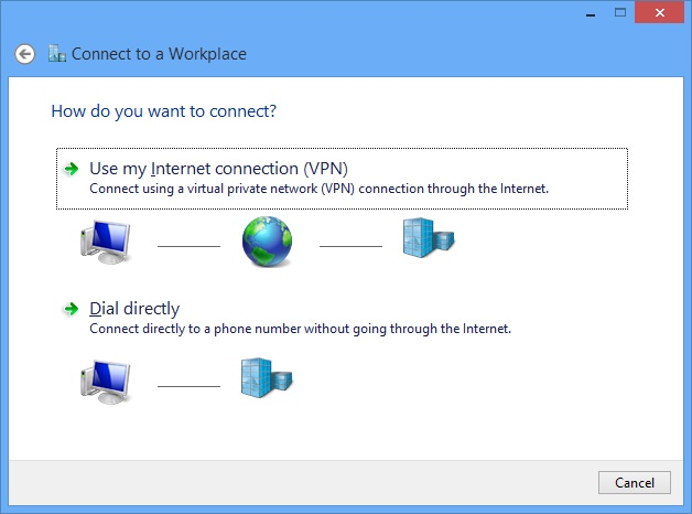 Connect to a workplace 1