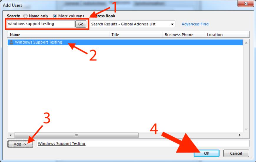 Sharing mail folders PC screenshot 4