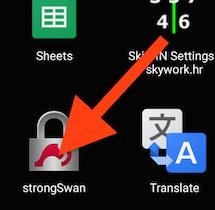 strongSwan app