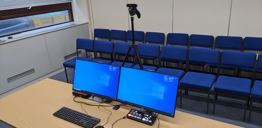 A lecture capture studio example