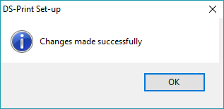 screenshot showing ds-print installation succeeded