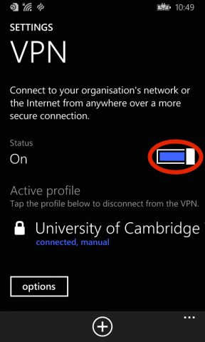 7   settings connected