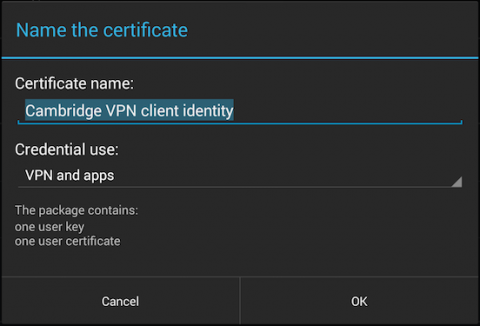 name the certificate