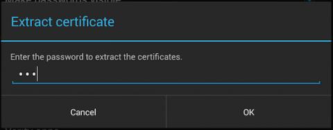 extracting certificates